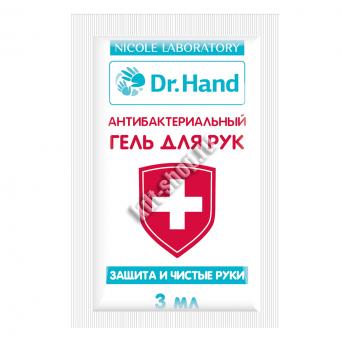 Антибактериальный гель для рук с экстрактом мяты (саше 3 мл,5 шт)